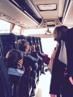 En el autocar