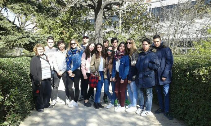 Colegio Los Naranjos en el Jardín Botánico de Madrid.