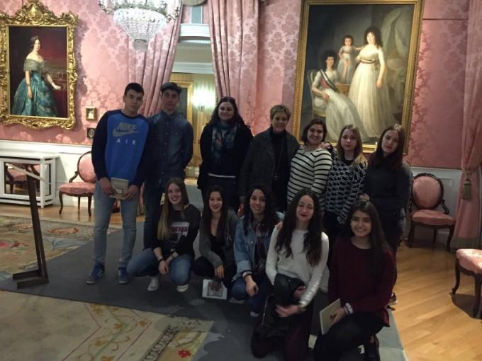 Alumnos de 1º de Bachillerato del Colegio Los Naranjos en el Museo del Romanticismo en Madrid.