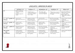 Programa Semana de Inmersión Lingüística Actividades 17-18